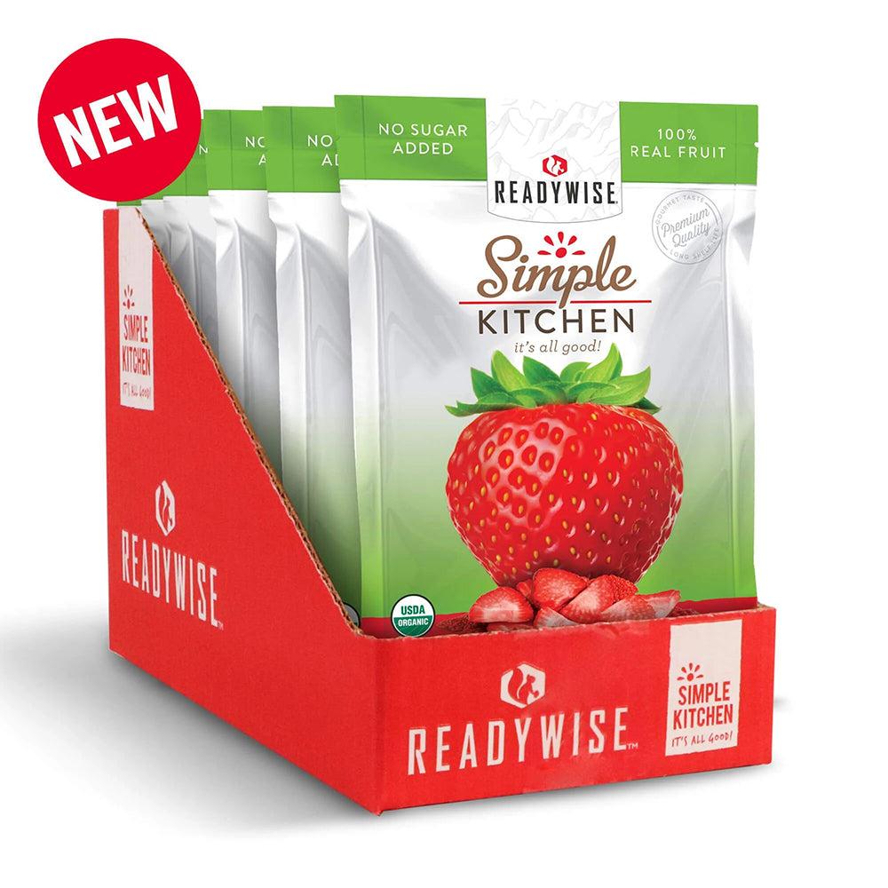 Simple Kitchen Organic Freeze-Dried Strawberries - 6 Pack