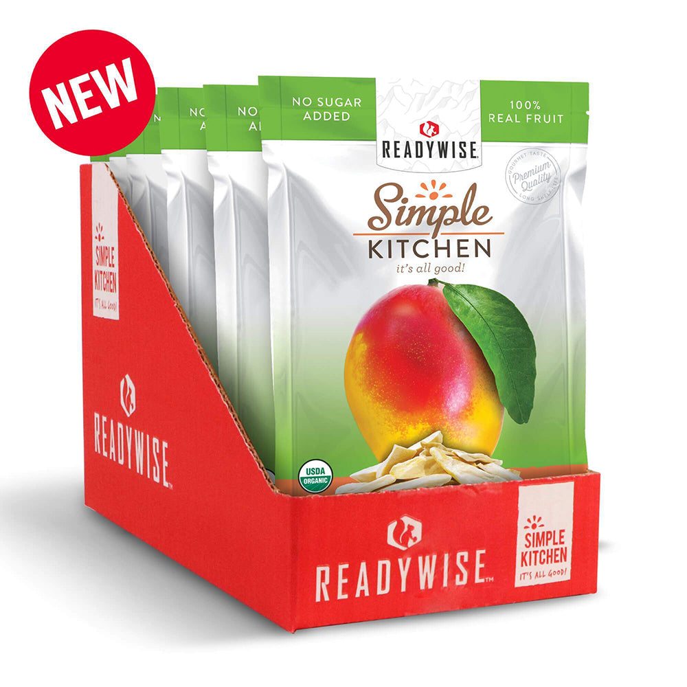 Simple Kitchen Organic Freeze-Dried Mangos - 6 Pack