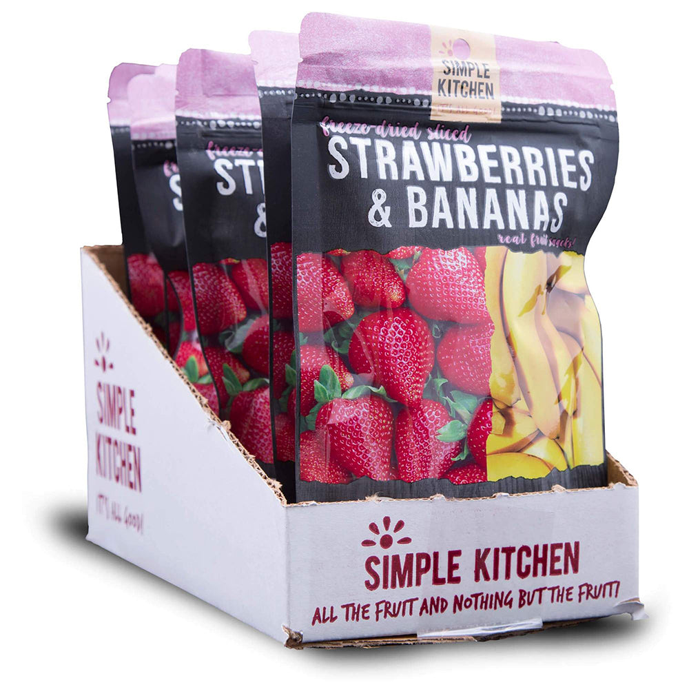 Simple Kitchen Strawberries & Bananas - 6 Pack