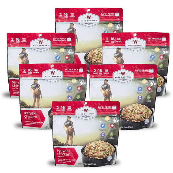 Outdoor Teriyaki Chicken and Rice 6-Pack (2 Serving Pouch)