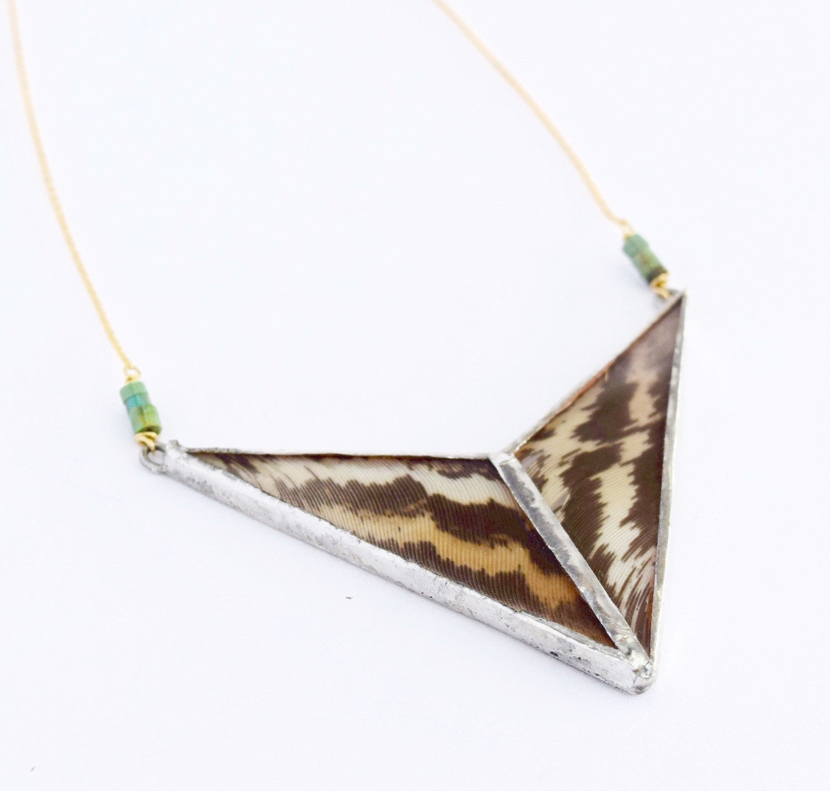 Intersecting Feather Necklace