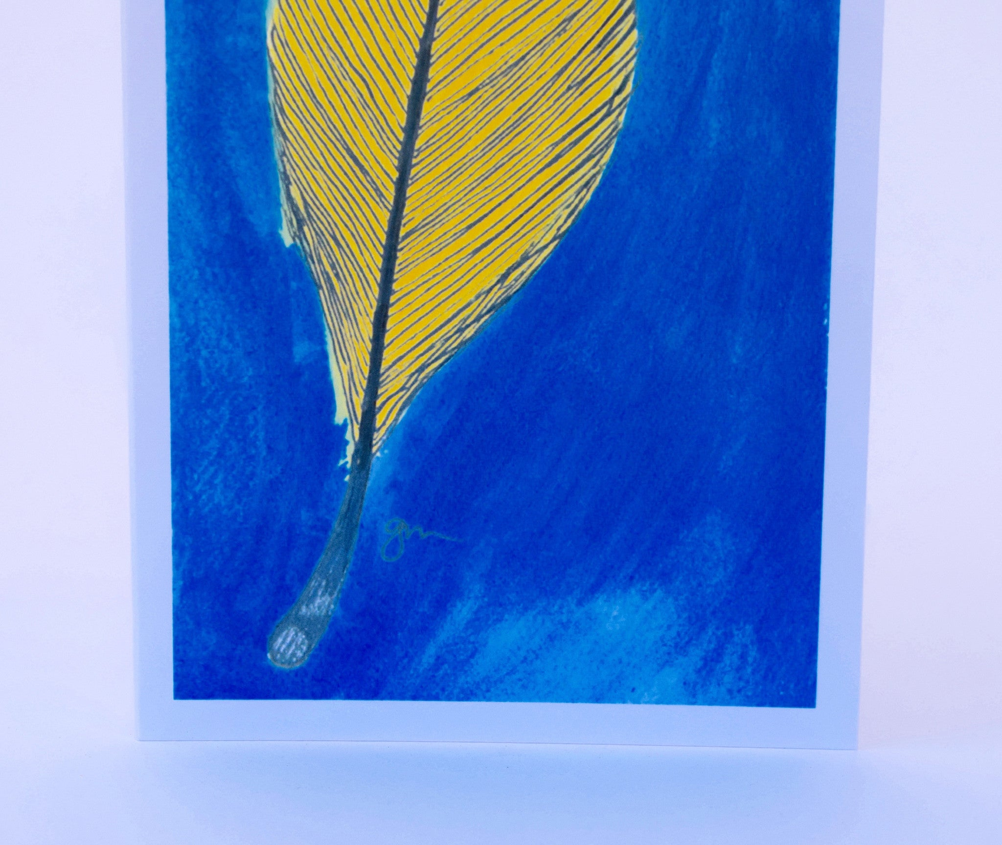 Feather Note Card