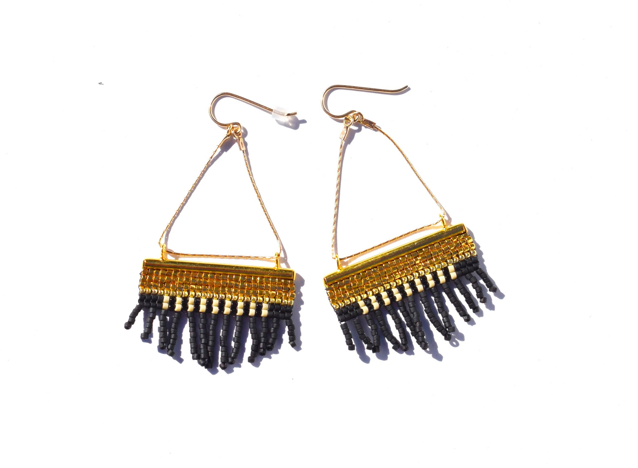 JAPANESE SEED BEAD FRINGE EARRINGS