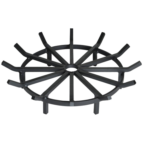 28 Inch Super Heavy Duty Wagon Wheel Fire Pit Grate