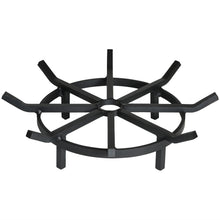 Super heavy duty steel outdoor round fire pit grate for burning firewood and logs. Made in the USA.