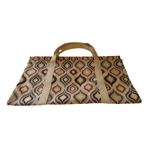 26 Inch Heavy Duty Cotton Log Tote - Mid Century Modern