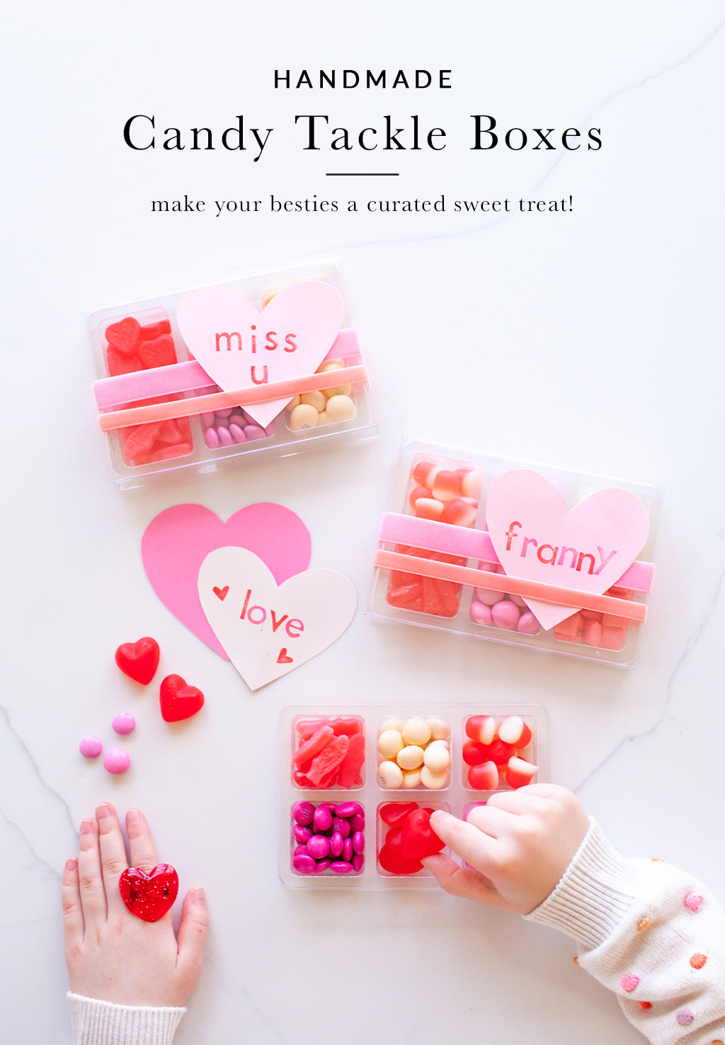Homemade Candy Tackle Boxes | Valentines for Kids | Shop Sweet Lulu