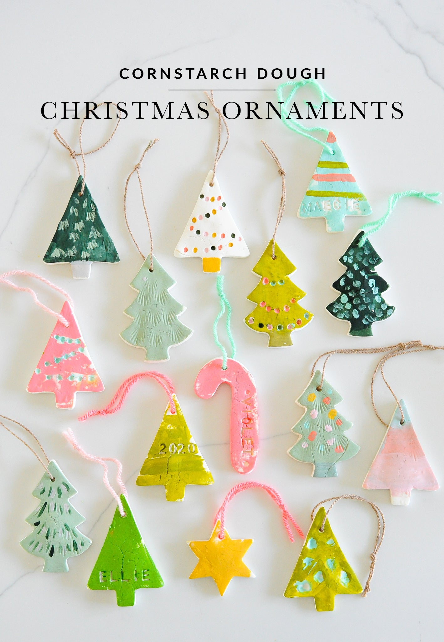 Cornstarch Dough Ornaments | Christmas Crafts for Kids | Shop Sweet Lulu