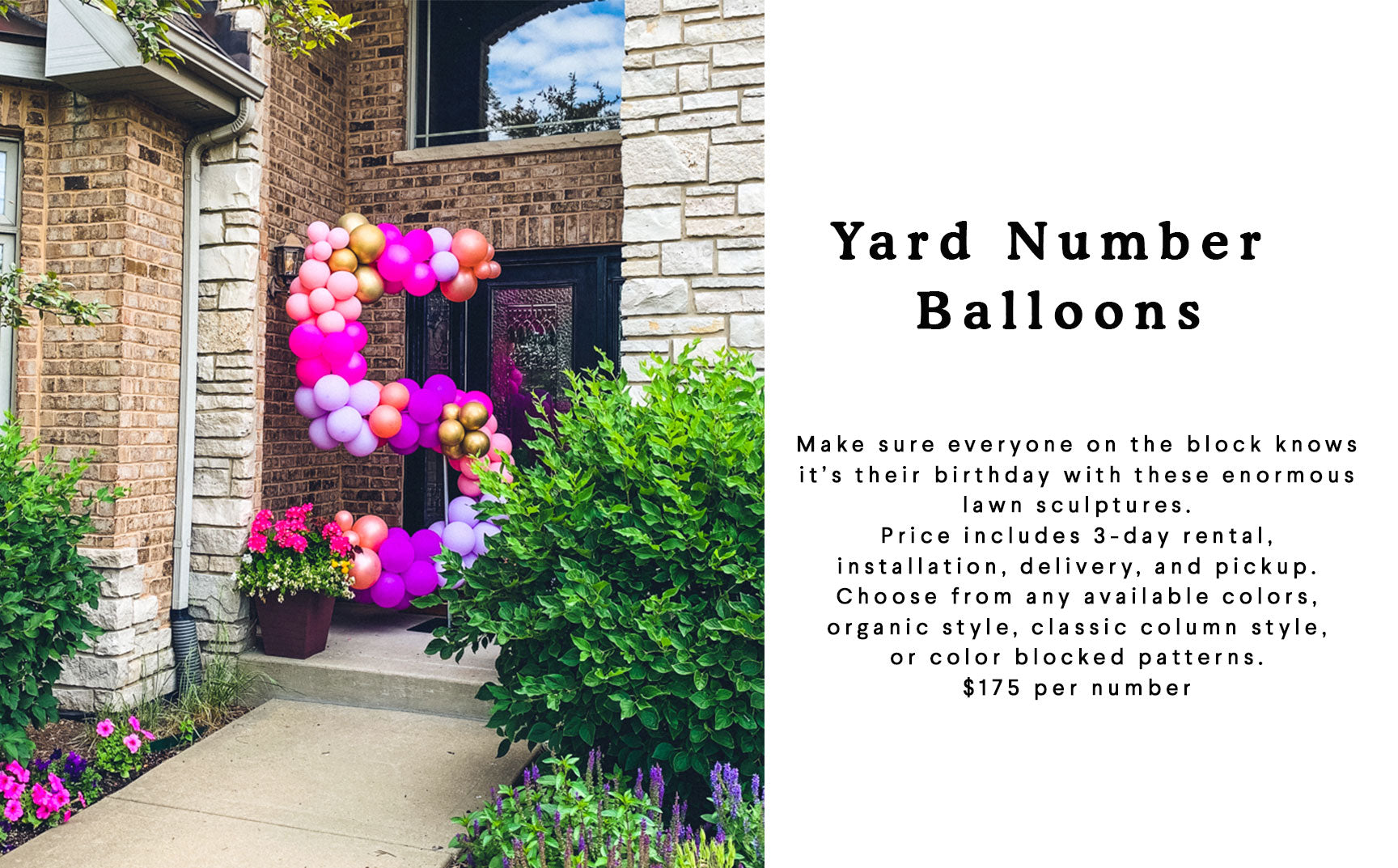 lawn number balloons
