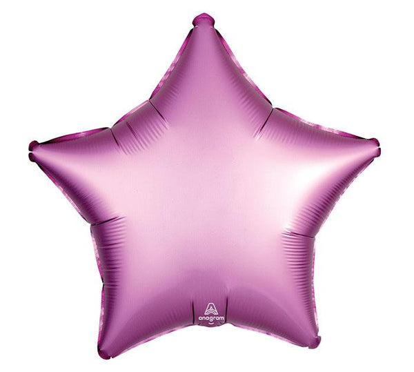 "19"" Satin Luxe Pink Foil Star Balloon"