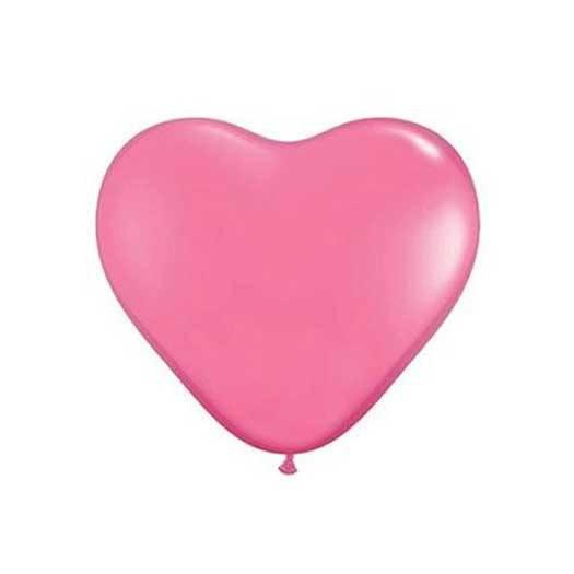 "11"" Heart Balloon, Rose Pink available at Shop Sweet Lulu"