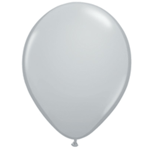 "11"" Latex Balloon, Gray"