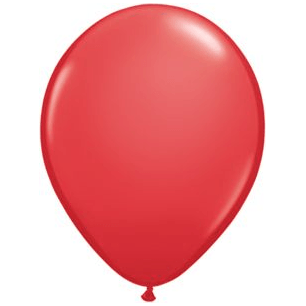 "11"" Latex Balloon, Candy Apple Red"