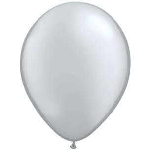 "11"" Latex Balloon, Silver"