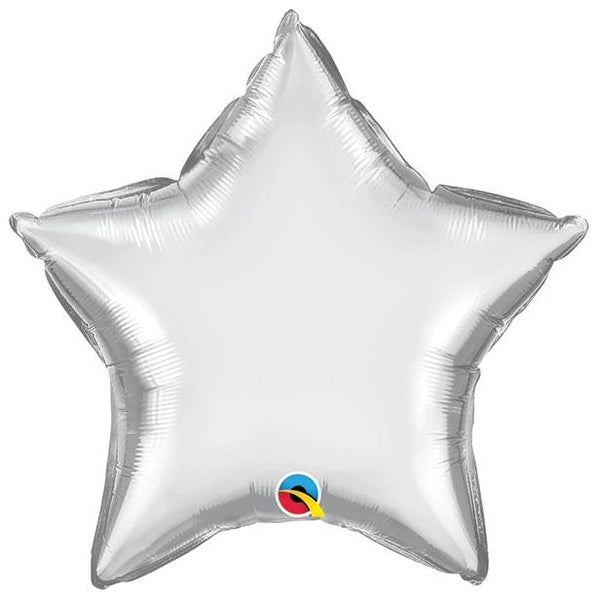 "20"" Chrome Silver Foil Star Balloon"