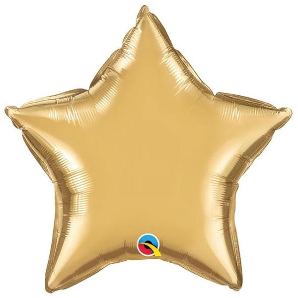 "20"" Chrome Gold Foil Star Balloon"