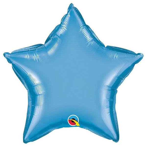 "20"" Chrome Blue Foil Star Balloon"