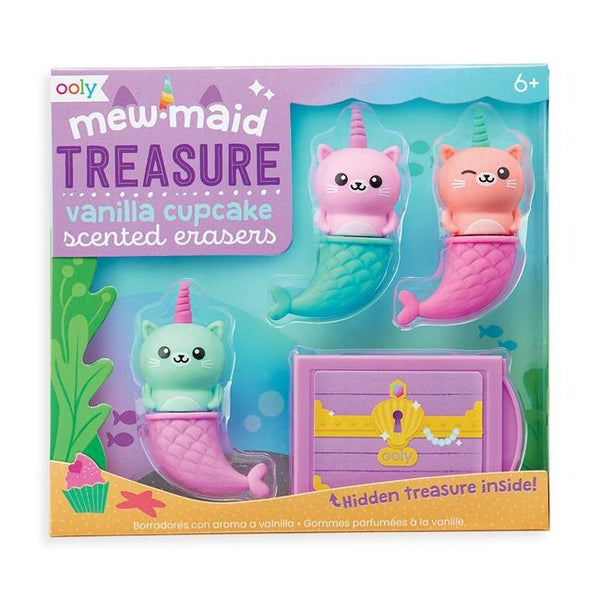 Mew-Maid Treasure Scented Erasers