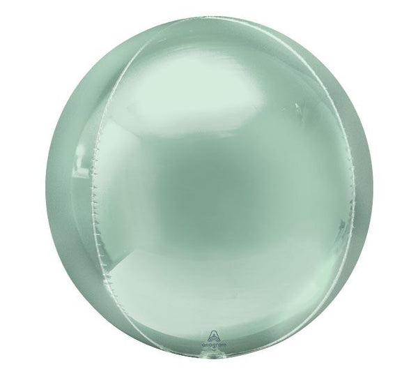 "16"" Mint Mylar Balloon Orbz"
