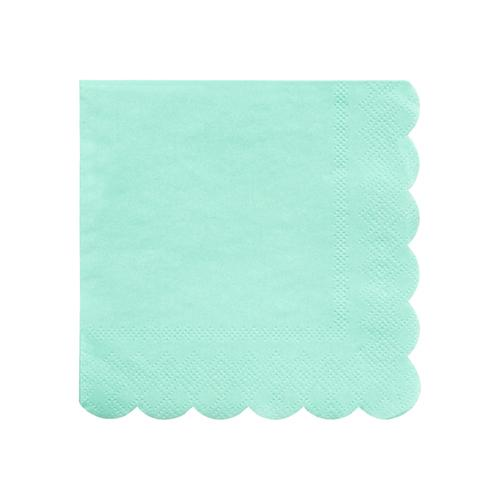 Small Mint Scalloped Napkins