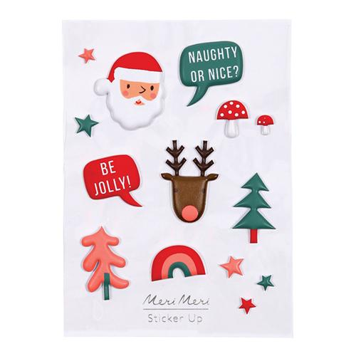 Festive Puffy Stickers