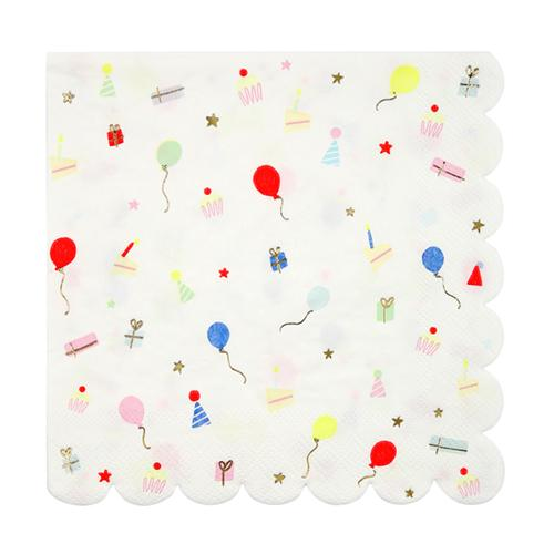 Party Icons Large Scalloped Napkins available at Shop Sweet Lulu