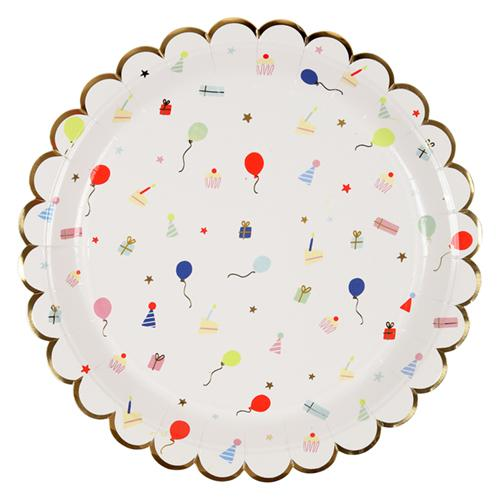 Party Icons Large Scalloped Plates available at Shop Sweet Lulu