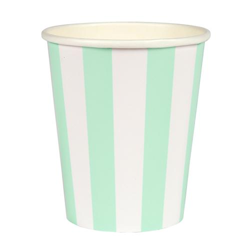Mint Cabana Striped Cups available at Shop Sweet Lulu