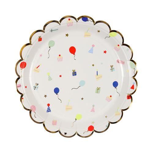 Party Icon Small Scalloped Plates available at Shop Sweet Lulu