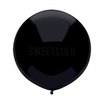 "17"" Black Round Balloon available at Shop Sweet Lulu"