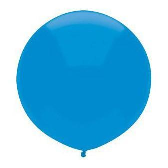 "17"" Bright Blue Round Balloon"
