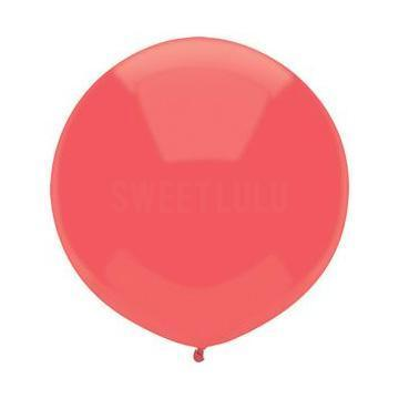 "17"" Candy Apple Red Round Balloon"