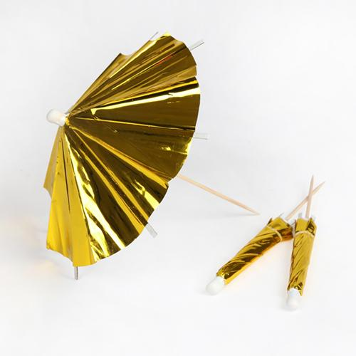 Gold Cocktail Umbrellas available at Shop Sweet Lulu