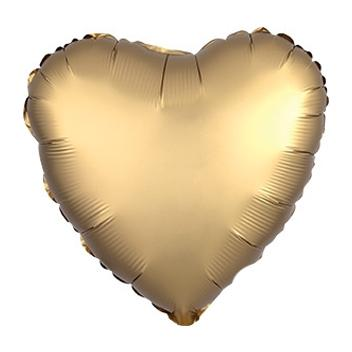"18"" Satin Luxe Gold Heart Foil Balloon"