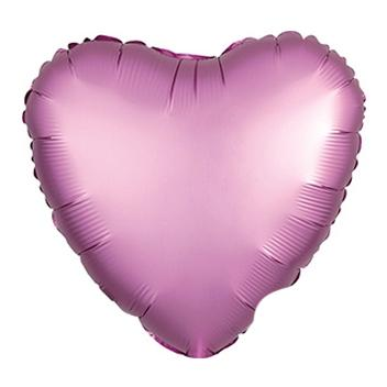 "18"" Satin Luxe Pink Heart Foil Balloon"