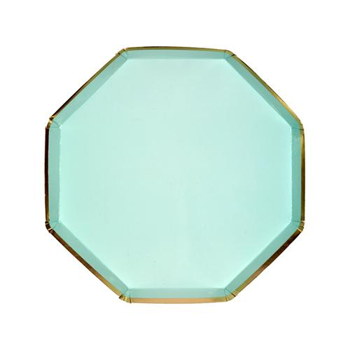 Mint with Gold Edge Side Plates