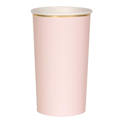 Pale Pink Highball Cups