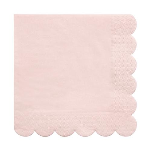 Large Pale Pink Scalloped Napkins