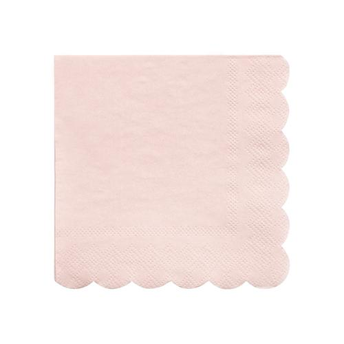 Small Pale Pink Scalloped Napkins