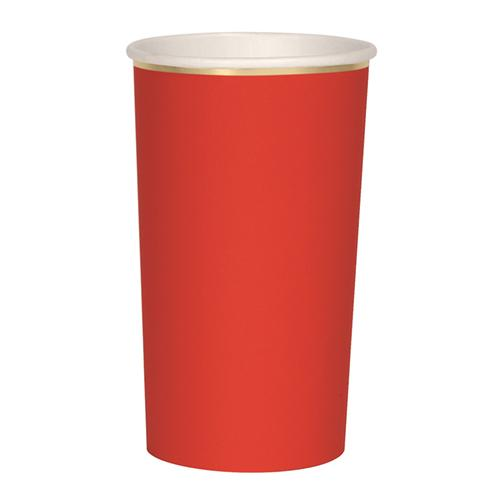 Red Highball Cups