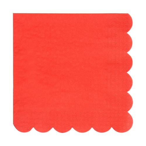 Large Red Scalloped Napkins