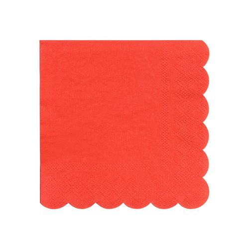 Small Red Scalloped Napkins