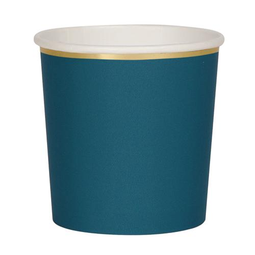 Dark Teal Cups