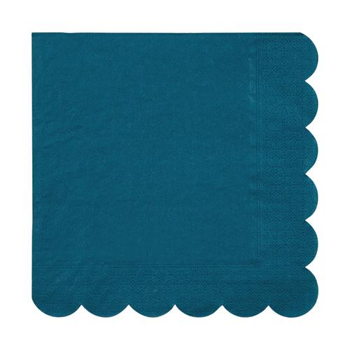 Large Dark Teal Scalloped Napkins