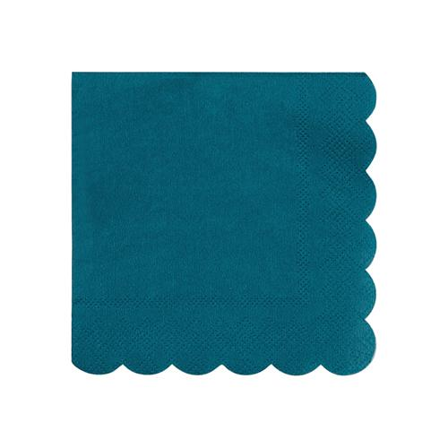 Small Dark Teal Scalloped Napkins