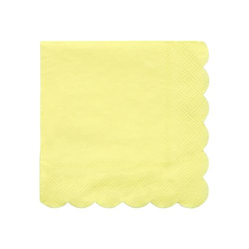 Small Pale Yellow Napkins