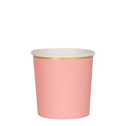 Neon Coral Tumbler Cups