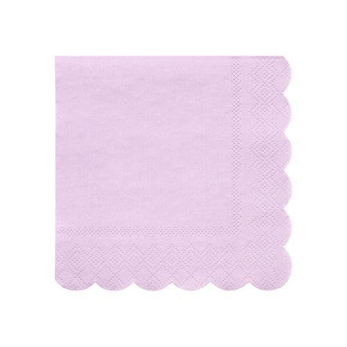 Small Lilac Scalloped Napkins
