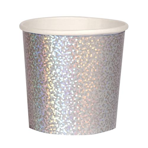 Silver Sparkle Cups