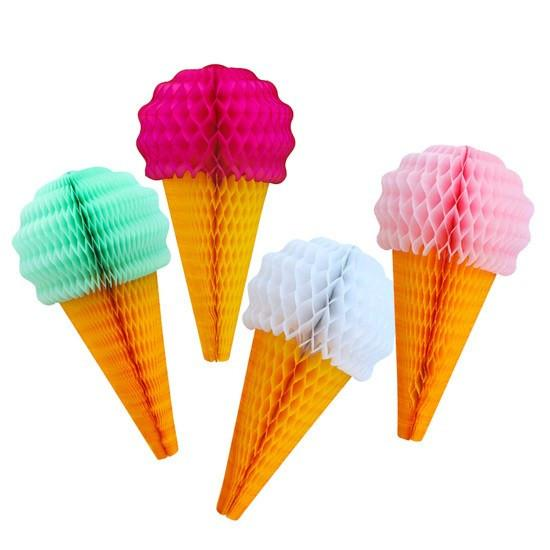 Honeycomb Ice Cream Cone, Magenta available at Shop Sweet Lulu
